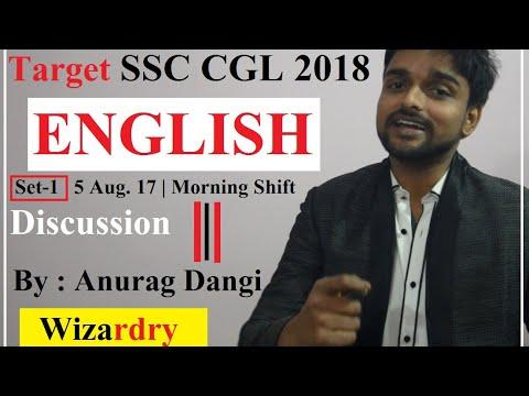 TARGET SSC CGL 2018 | English Set 1 | Discussion 05 Aug. 17 Morning Shift | Anurag Dangi
