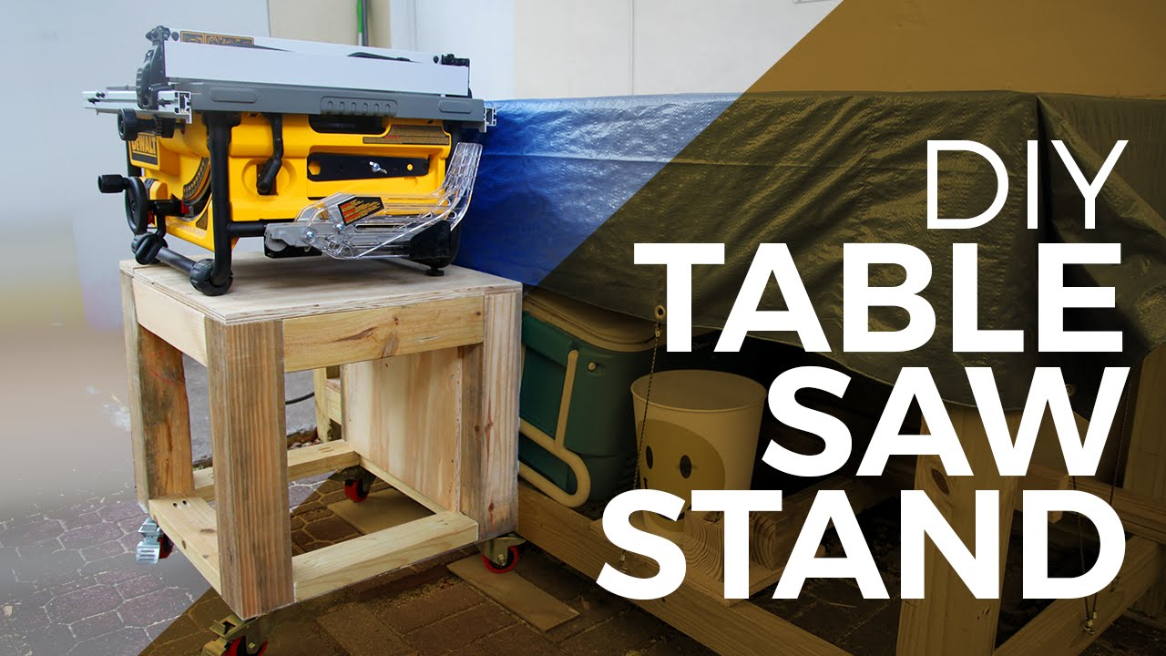 How To Make A Tablesaw Stand Youtube