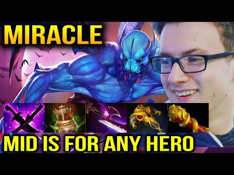 MIRACLE Night Stalker Mid with Right Clink Item Build Dota 2 thumbnail