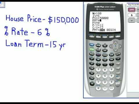 Finance Application for Monthly Payments on the Graphing Calculator