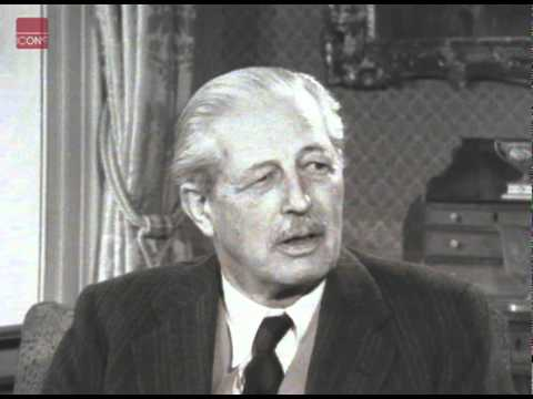 Harold Macmillan giving an Interview on his 70th birthday