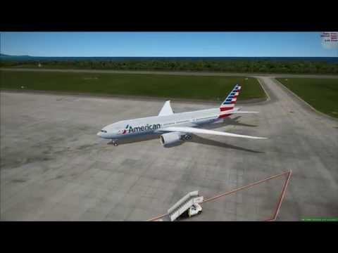 fsx american 777 hard landing into puerto plata dominican republic