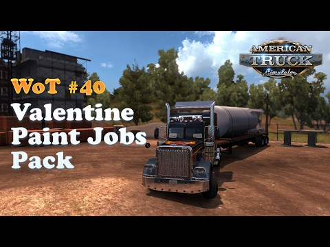[American Truck Simulator] Valentine's Paint Jobs Pack - Trucking from Sacramento to Santa Maria