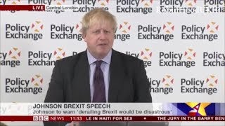 Boris Johnson speech Brexit shows our historic national genius