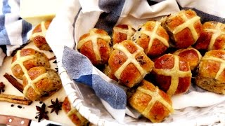 My Secret Recipe: Super Soft and Fluffy Hot Cross Buns 十字包 Sweet Milk Breads with Raisins