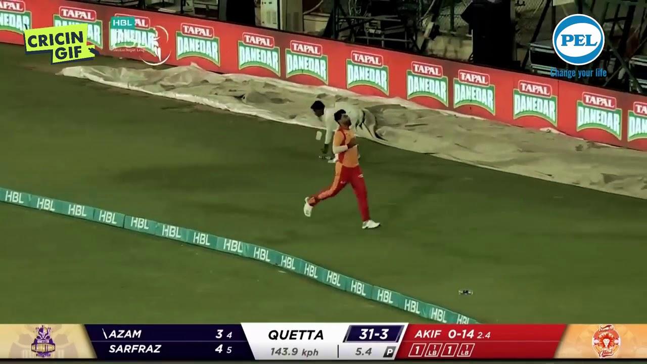 Azam Khan bring a half century!!! in HBL PSL 2020