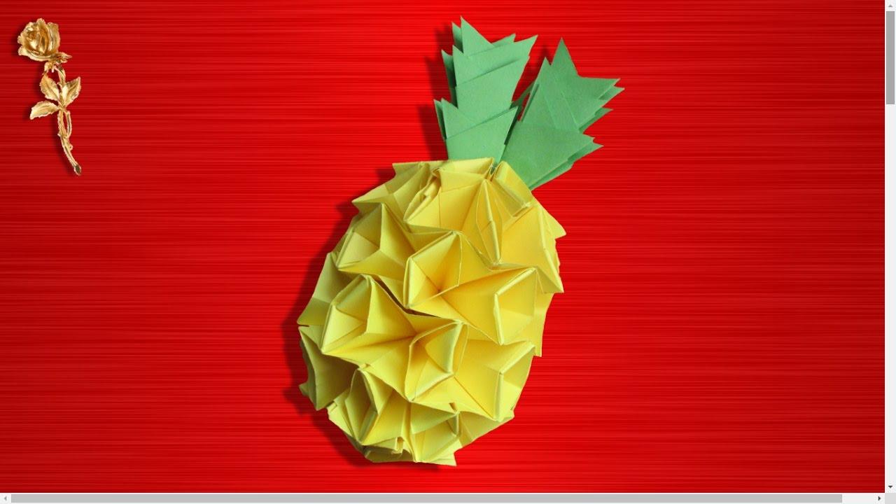 Origami Modulaire Ananas