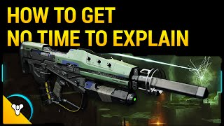 "Destiny Taken King: How to Get ""No Time to Explain"" Exotic Pulse Rifle (FWC Quest Guide)"