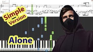 [Piano Tutorial] Alone - Alan Walker (Easy Version)