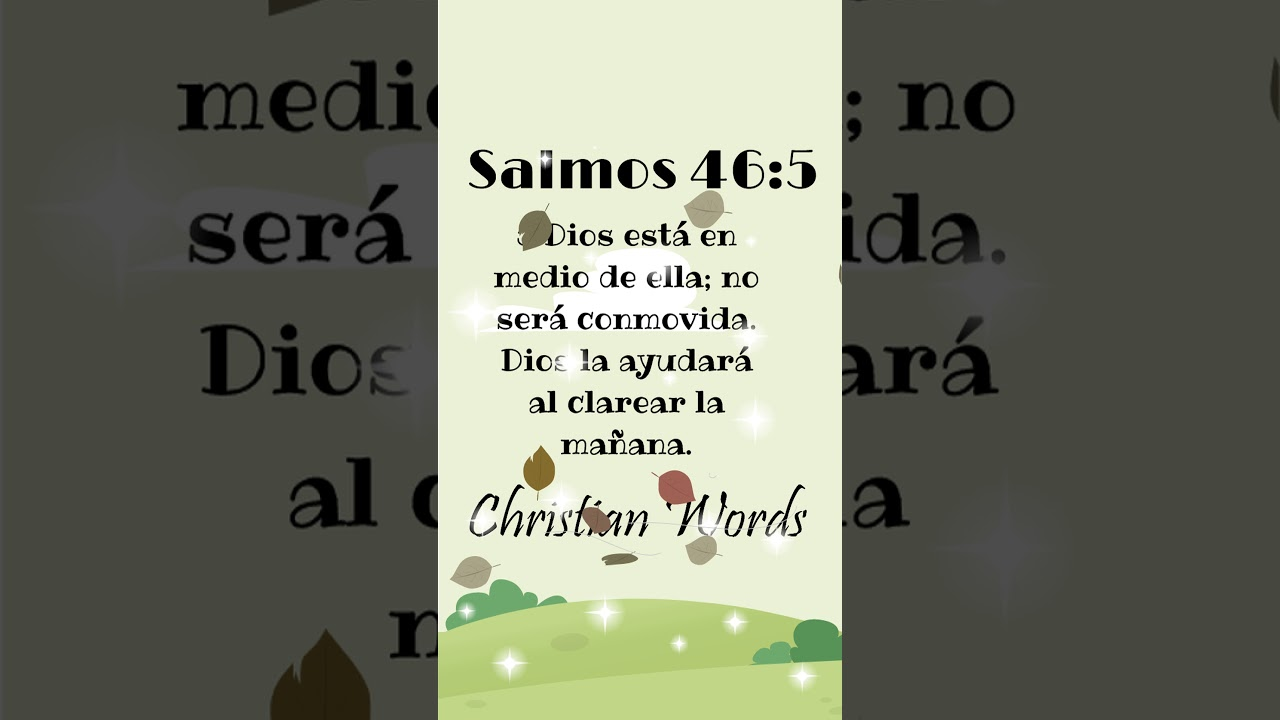 Psalm 46 5 Salmos Words