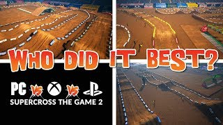 Who Did It Best? - PC vs Xbox vs Playstation - Supercross The Game 2