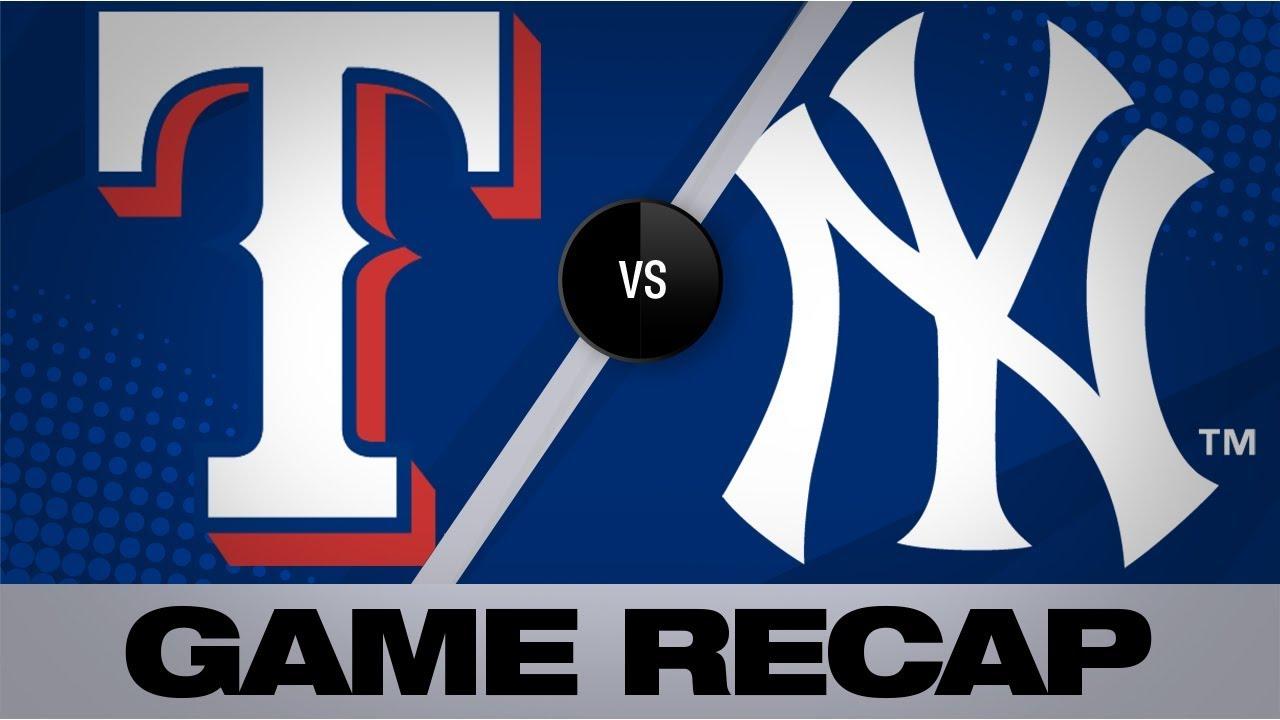 Minor, DeShields lead Rangers to shutout win | Rangers-Yankees Game Highlights 9/2/19