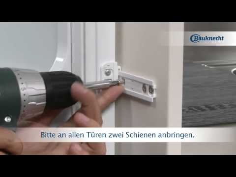 Showing you the difference between fixed door and slidi for Kühlschrank bauknecht