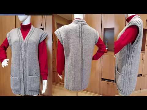 Вязание жилетов и безрукавок спицами для женщин полных