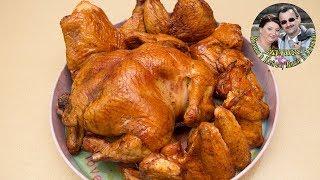 Курица, Окорочка и Крылышки горячего копчения. 3 часа и на столе. Реактивно быстро. Оочень вкусно