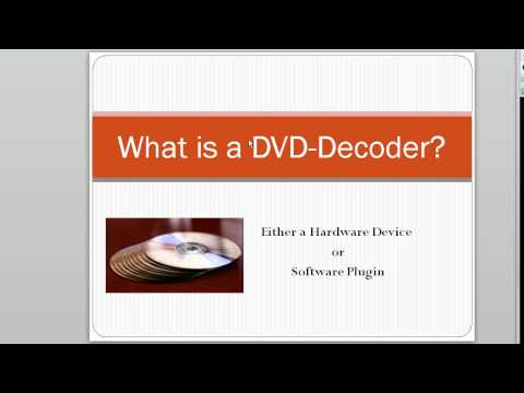 What is a DVD Decoder? Windows Users