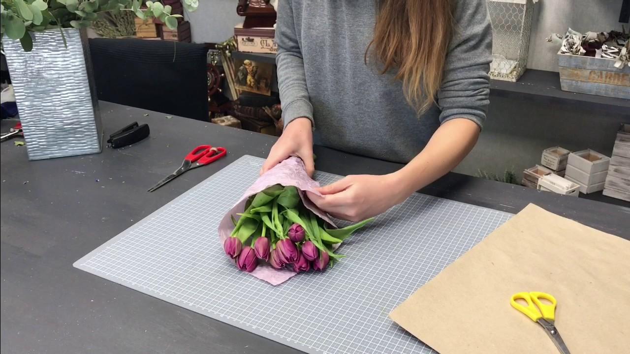Букет из тюльпанов своими руками