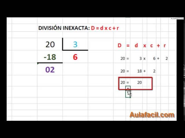 ⏩División - Matemáticas Tercero Primaria (8 años) | AulaFacil.com ...