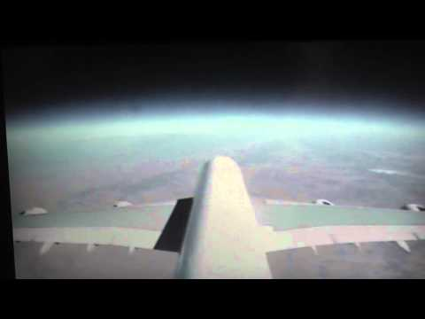 Video from A380 tailplane