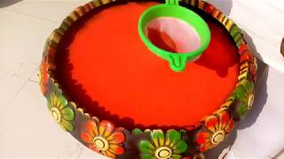 Rangoli above water for beginners