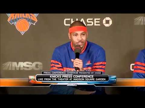 CARMELO ANTHONY FIRST GAME AS A NEW YORK KNICK