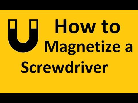 how to magnetize a screwdriver youtube. Black Bedroom Furniture Sets. Home Design Ideas