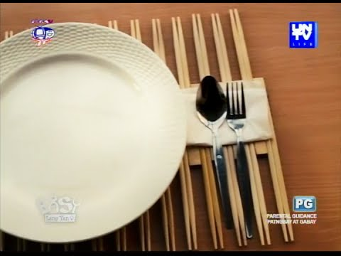 UNTV Life: Uber chic placemat you can create from chopsticks
