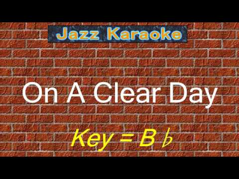 "JazzKara  ""On A Clear Day"" (Key=Bb)"
