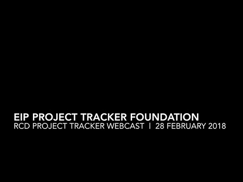 TRPA and The EIP Project Tracker Foundation Section of the RCD Project Tracker Webcast