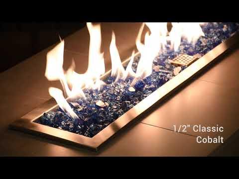 Half Inch Classic Cobalt Blue Fire Glass