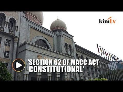 Federal court overturns COA ruling on Section 62 of MACC Act