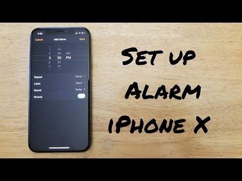 How to set up alarm iPhone X