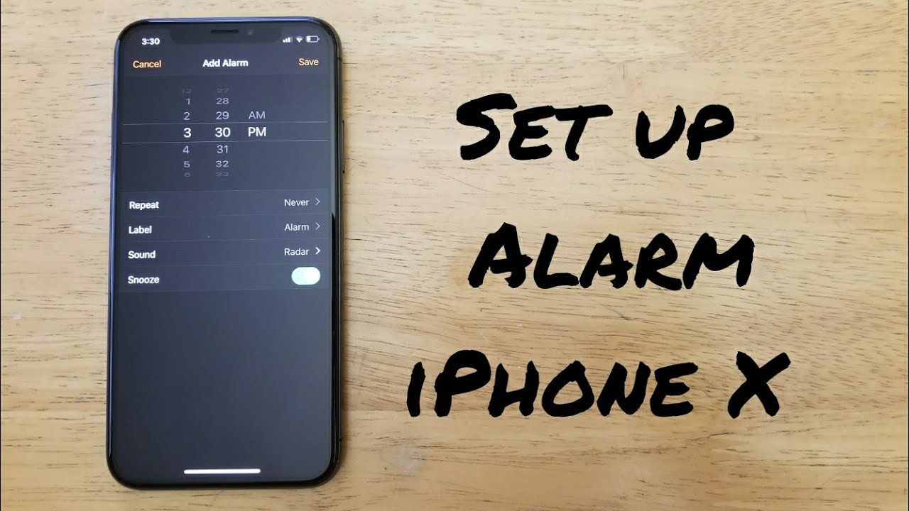 How To Set Up Alarm Iphone X Youtube