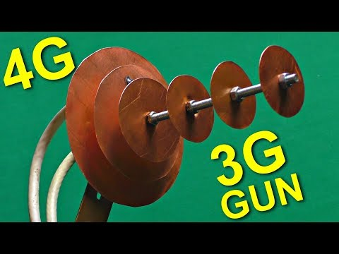 A Hand-made 3G Gun!  A Powerful Antenna for 3g, 4g and WiFi DIY !