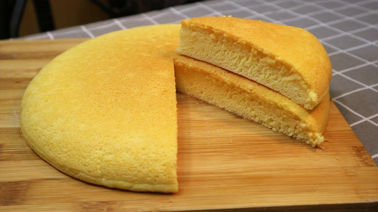 Cách Làm Bánh Bông Lan Bằng Chảo Cực dễ  - Easy Vanilla Sponge Cake