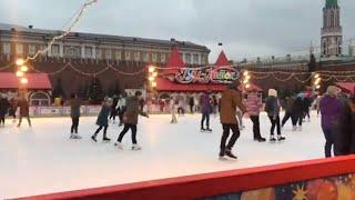 🔴 Абхазцы Первый Раз в Москве🔴 Каток на Красной площади 🎄 ГУМ 🎄 Кремлевская ёлка 🎄