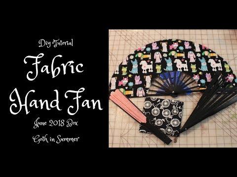 DIY Fabric Hand Fan Tutorial || Goth in Summer Box June 2018