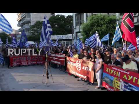 Greece: Golden Dawn hold torch-lit protest over Macedonia naming dispute