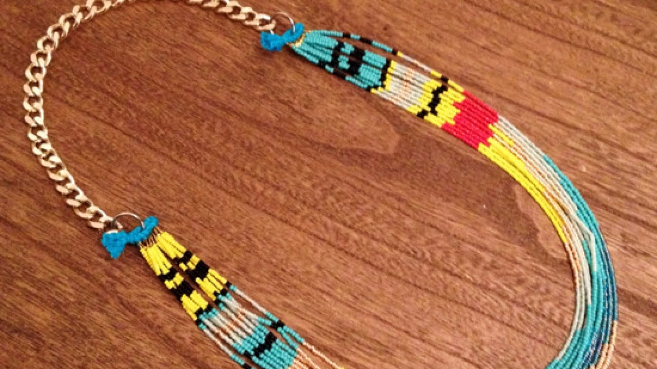 How to make a native american necklace diy style for How to make american indian jewelry