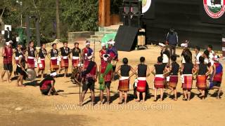 Bamboo dance presented by Kuki tribe, Nagaland