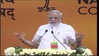 PM Modi at the BJP Council Meeting at Jawaharlal Nehru Stadium - 9th August 2014