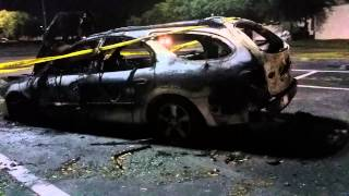 Ford Taurus burned up