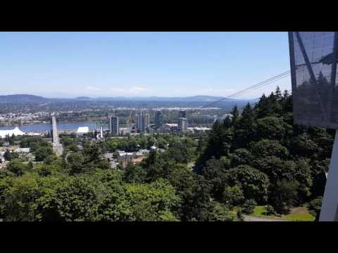 Tram from Downtown Portland to OHSU