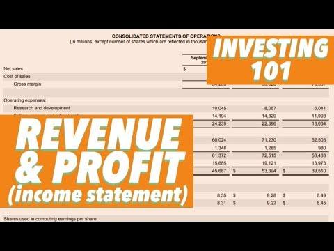 INVESTING 101 Revenue & Profit (Income Statement)