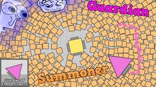 I AM SUMMONER & GUARDIAN BOSS! BECOMING DIEP.IO BOSSES HACK!! Epic Diep.io Mod [Diep.io]