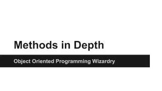 JAVA Programming Tutorials - Create Methods in JAVA in depth - 14