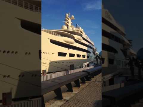Worlds Largest Yacht 'The Dilbar', Barcelona, Spain (1)