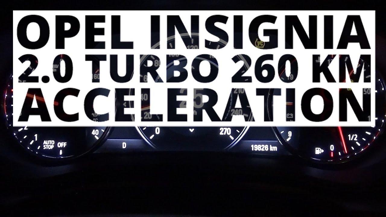 Opel Insignia 2.0 Turbo 260 KM (AT) – acceleration 0-100 km/h