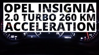 Opel Insignia 2.0 Turbo 260 KM (AT) - acceleration 0-100 km/h