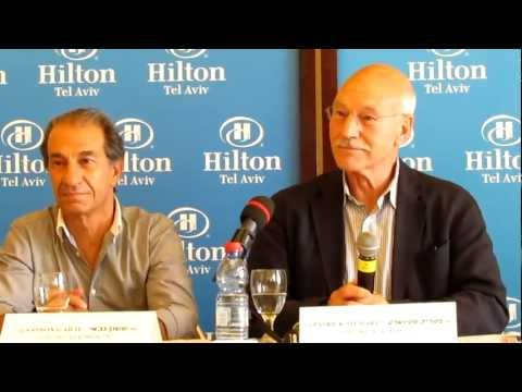 סר פטריק סטיוארט בישראל - מסיבת עיתונאים חלק 1